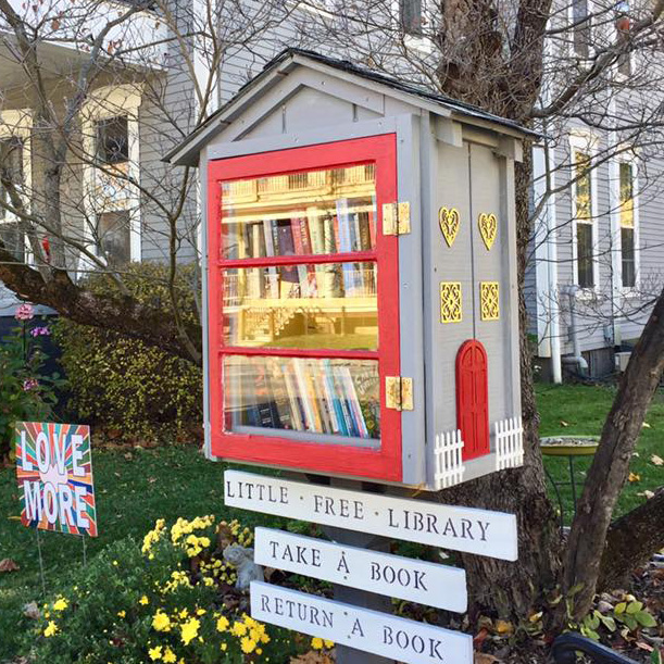 little free library in